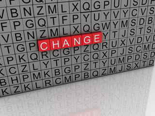 3d imagen Change concept word cloud background