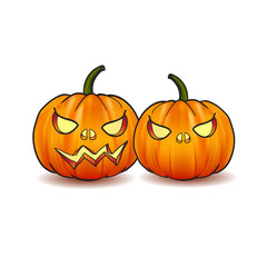 Illustration of Scary Jack O Lantern Halloween pumpkin