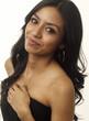 Beautiful woman long dark hair