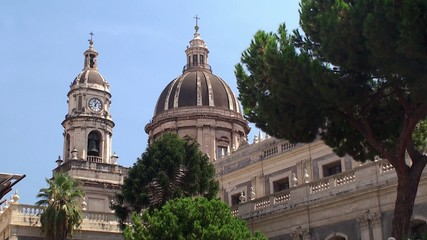 Dome & Belltower of Catania Cathedral. Sicily