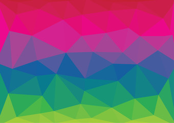 Colorful crystal triangles vector abstract background