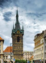The Henry's Bell Tower (Jindrisska tower) in Prague, Czech Repub