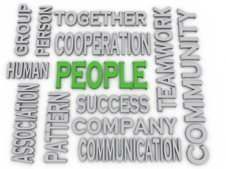 3d imagen People concept word cloud background