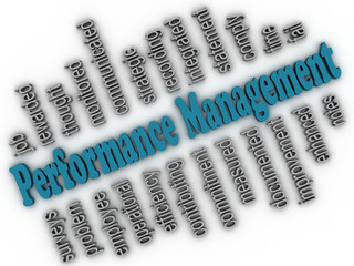 3d imagen Performance Management concept word cloud background