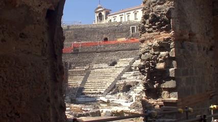 Greek-Roman Theatre of Catania. Sicily