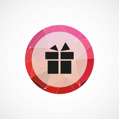 gift circle pink triangle background icon.