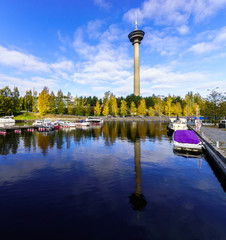 "Tower ""Nyasineula"" fall. Tampere, Finland."
