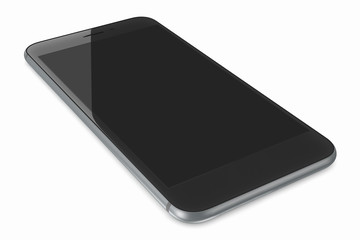 Space Gray smartPhone with blank screen