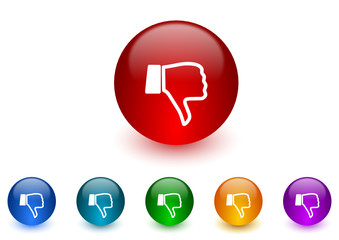 dislike vector icon colorful set