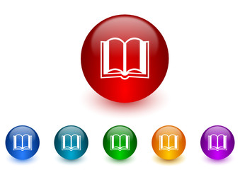 book vector icon colorful set