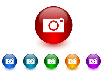 camera vector icon colorful set