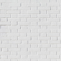 White grunge brick wall