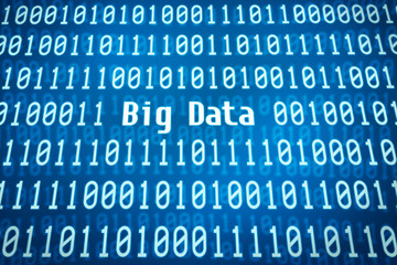 Binärcode mit dem Wort Big Data im Zentrum