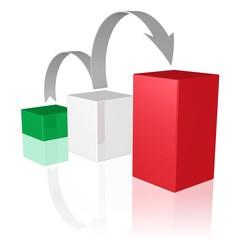 Wachstum - Symbol in den Farben der italienischen Flagge