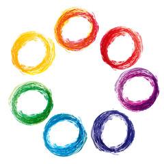 colorful paint splat