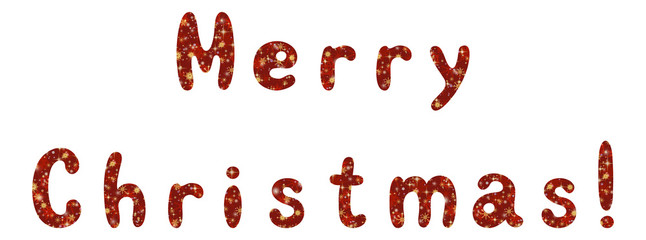 Lettering holiday Merry Christmas