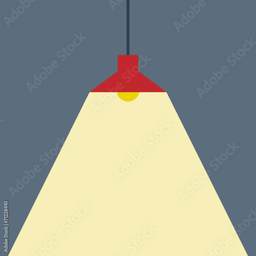 Ceiling Lamp Flat Icon Vector