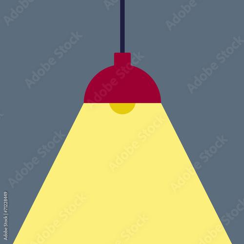 Fotobehang Licht, schaduw Ceiling Lamp