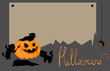 Vector halloween card with space for text - 71228614