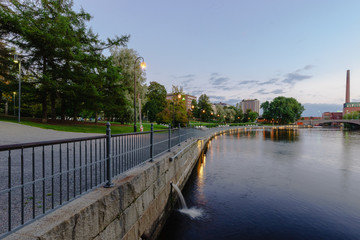 Evening Tampere. Finland.