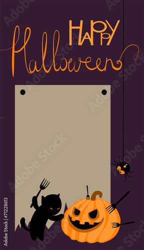 Vector halloween card with space for text - 71228613