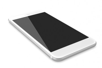 New Silver Smartphone with blank screen