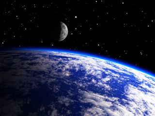 Earth Planet with a Moon