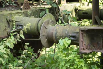 iron old rusted train buffer