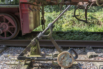 Old railroad track switch