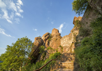 Belogradchik fortress inside and the rocks