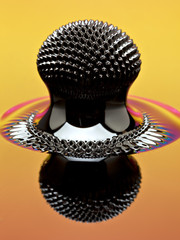 Macro of Ferrofluid structure induced by a neodymium magnet