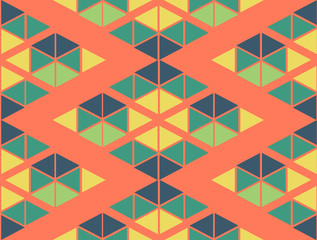 geometric green yellow blue orange color  pattern background