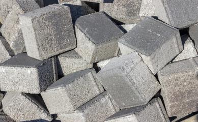 Pile of concrete cubes
