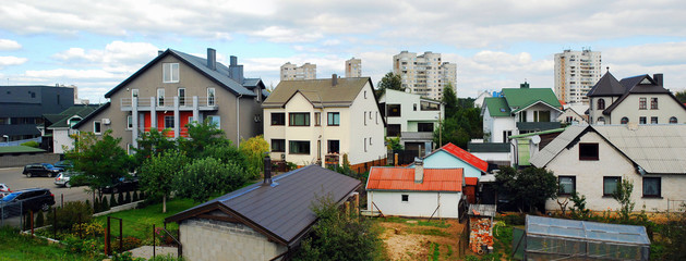 Vilnius city houses in Fabijoniskes district