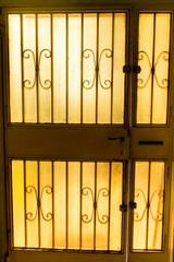 Cross-light white door