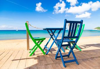 Terrace on the beach overlooking the Sea