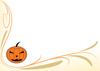Sfondo zucca stilizzata halloween