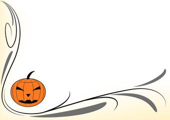 Decorazione zucca stilizzata Halloween