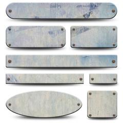 8 plaques en bois ancien