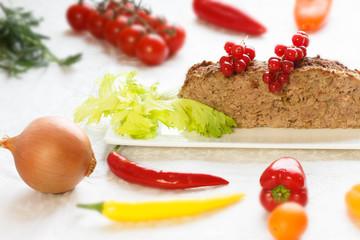 Dukan diet - Meatloaf with vegetables