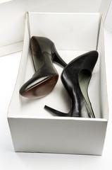 Black stiletto High Heels Shoe in the Box