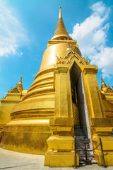 golden pagoda in Bangkok, Thailand