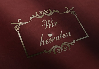 Wir heiraten - Leder - Ornament