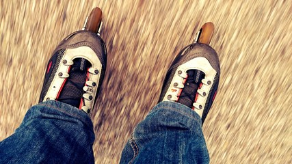 Inlineskates man on the run Variante 3