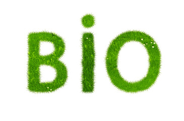 Bio word made out of grass