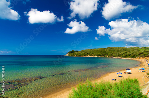 canvas print picture View of Baratti Beach, Livorno, Italy