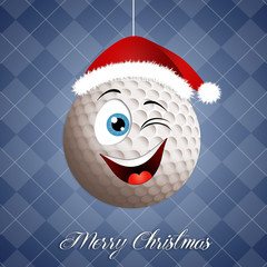 Funny golf ball for Christmas