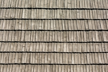 Old Roof Texture With Wood Tiles