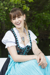 young woman in dirndl