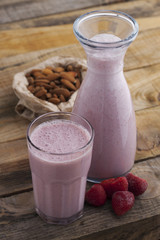 Strawberry almond nut milk